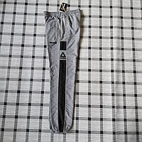 Мужские спортивные брюки Reebok,цвет серый