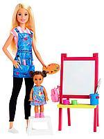 Кукла Barbie: Кем стать? Учитель рисования