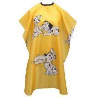 """Пеньюар парикмахерский детский """"Веселые собачки"""", желтый, 80х130см."""