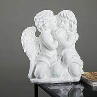 """Фигура """"Ангел и Фея сидя"""" большая, белый 19х34х44см"""