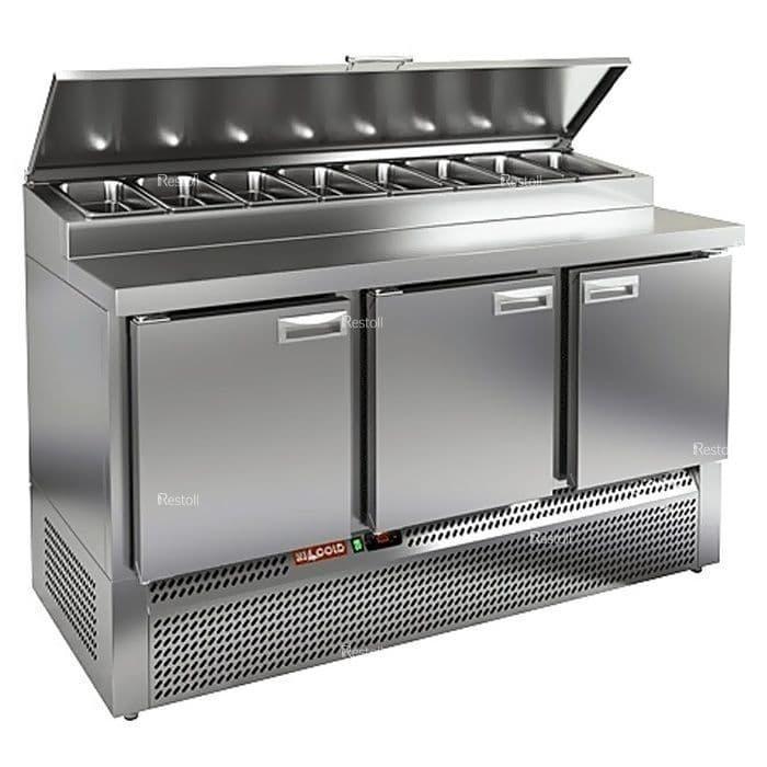 Стол холодильный для пиццы Hicold PZE1-111/GN (8xGN1/3)