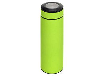 Термос Confident с покрытием soft-touch 420мл, зеленое яблоко