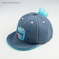 Кепка «Бейсболка» для мальчика, цвет голубой, размер 44-46