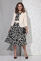 Женский осенний из вискозы деловой нарядный комплект с платьем Beautiful&Free 3057 48р.