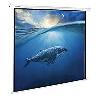 Экран проекционный 180 х 180 см, BRAUBERG MOTO, матовый, настенный, электропривод