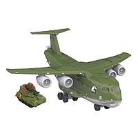 Самолёт 'Транспортный военный', световые и звуковые эффекты, подвижные элементы