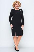 Женское осеннее трикотажное черное нарядное большого размера платье Algranda by Новелла Шарм А3771 56р.
