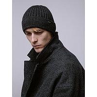 Шапка мужская ДАРТ, цвет темно-серый, р-р 56-58