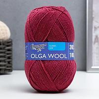 Пряжа OlgaWool (ОльгаЧШ), 95 шерсть, 5 акрил, 392м/100г, (брусничная) (комплект из 2 шт.)
