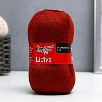 Пряжа Lidiya (ЛидияПШ) 50 шерсть, 50 акрил 1613м/100гр (15 терракот) (комплект из 2 шт.)