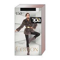Колготки теплые женские ЭРА Cotton 150 цвет чёрный, р-р 3