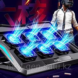 """Игровая подставка для ноутбука 17.3"""" с 6-ю вентиляторами. Модель 2021 года"""