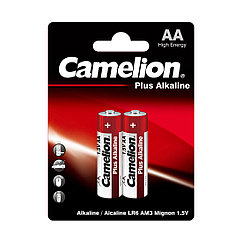 Батарейка, CAMELION, LR6-BP2, Plus Alkaline, AA, 1.5V, 2700 mAh, 2 шт. в блистере
