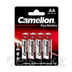Батарейка, CAMELION, LR6-BP4, Plus Alkaline, AA, 1.5V, 2700 mAh, 4 шт. в блистере