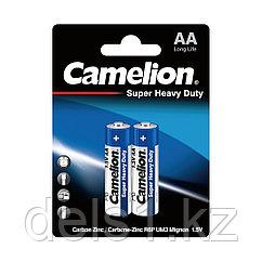 Батарейка, CAMELION, R6P-BP2B, Super Heavy Duty, AA, 1.5V, 1050 mAh, 2 шт., в блистере