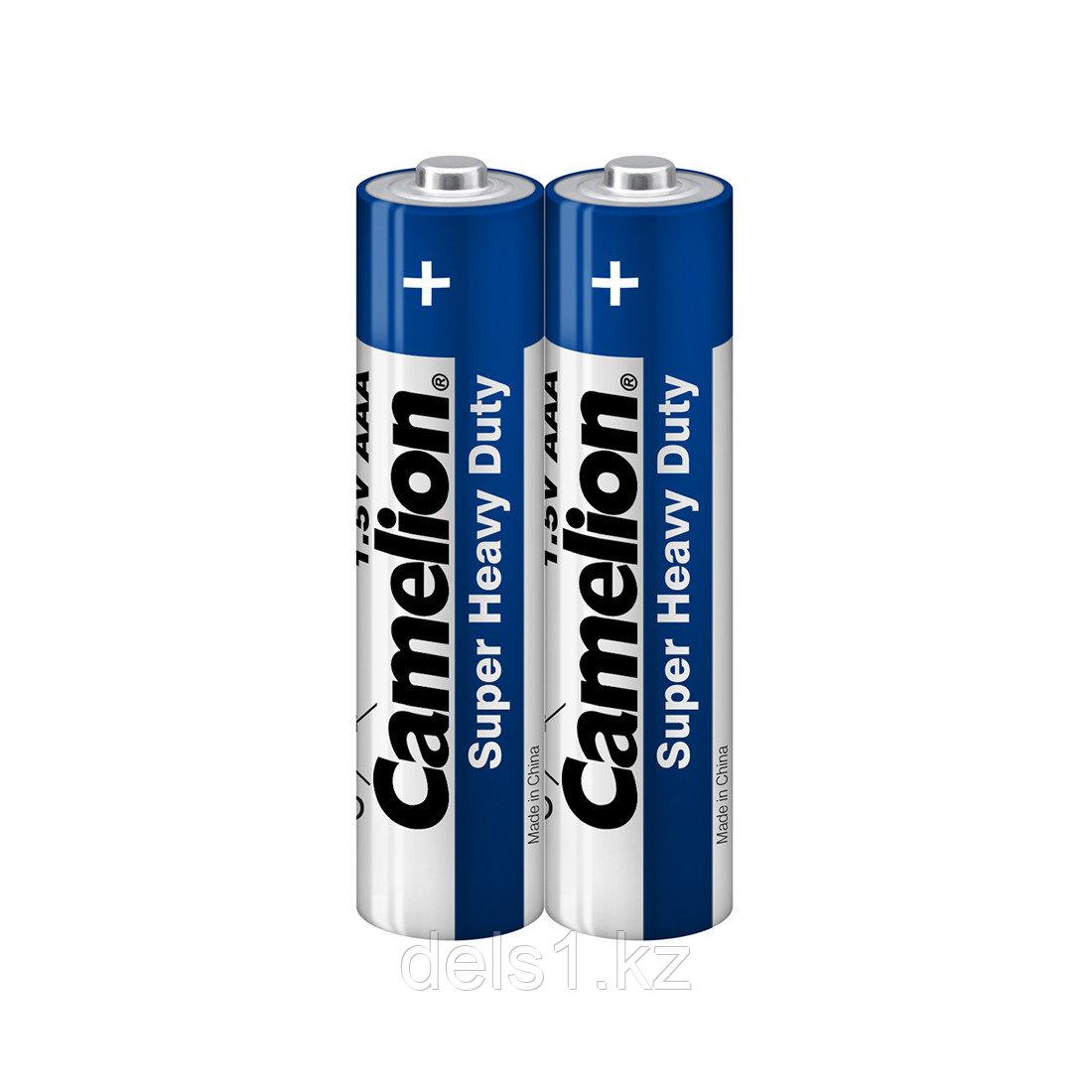 Батарейка, CAMELION, R03P-SP2B, Super Heavy Duty, AAA, 1.5V, 550 mAh, 2 шт. в плёнка