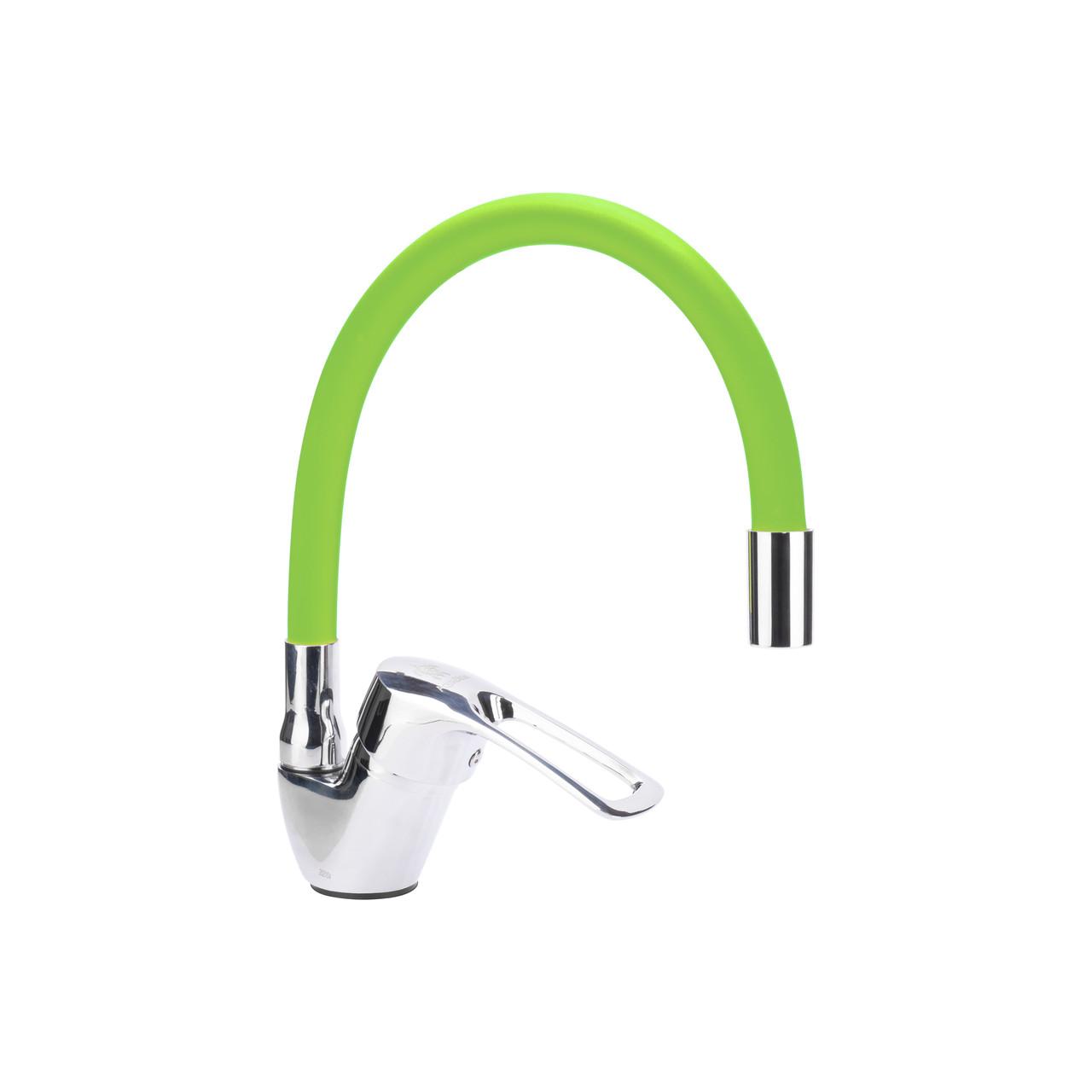 Гибкий смеситель для кухни Aquadeus 44F Зеленый