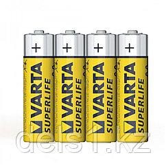 Батарейка, VARTA, R6P Superlife, AA, 1.5V, 4 шт., Пленка
