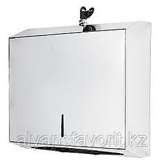 Диспенсер для бумажных полотенец (Z- укладка) металлический хром.Китай