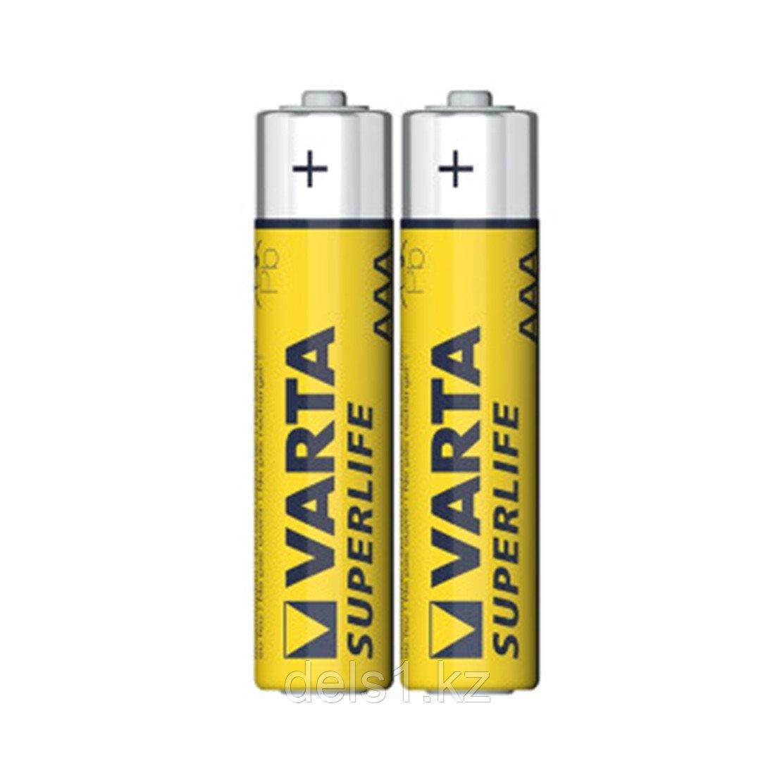 Батарейка, VARTA, R03P Superlife, AAA, 1.5 V, 2 шт., в пленке