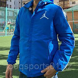 Легкая куртка, ветровка мужская Air Jordan синие (1181)