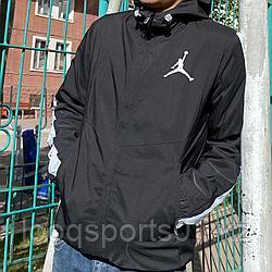 Легкая куртка, ветровка мужская Air Jordan черные (1253)