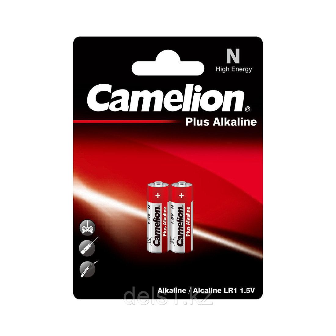 Батарейка, CAMELION, LR1-BP2, Plus Alkaline, N, 2 шт., Блистер