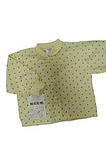 Кофта claris желтая горох 56 р