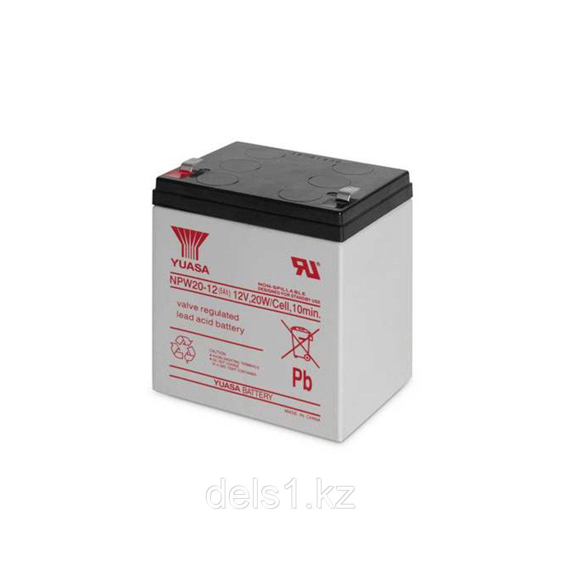Батарея, Yuasa, NPW 20-12 (5Ah), Свинцово-кислотная 12В*5 Ач, Размер в мм.: 90*70*101