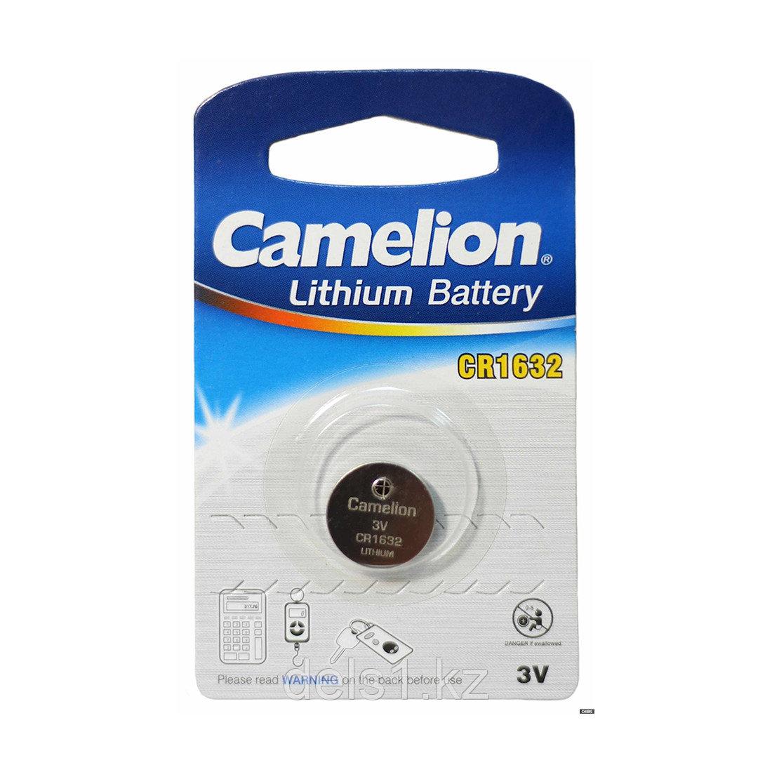 Батарейка, CAMELION, CR1632-BP1, Lithium Battery, CR1632, 3V, 220 mAh, 1 шт.