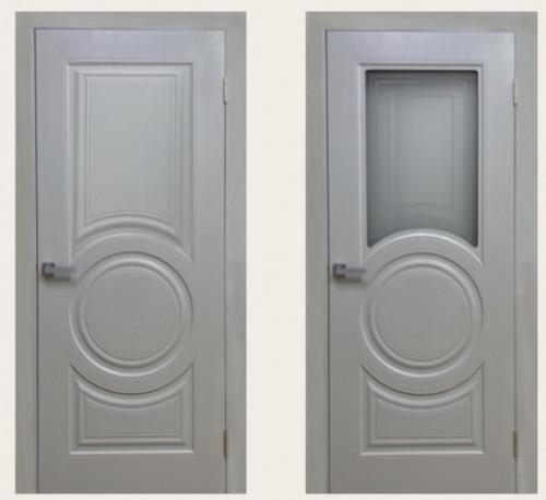 Межкомнатная дверь Скин 5 серый