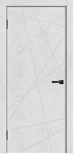 Межкомнатная дверь Line 01 бетон светлый