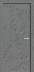 Межкомнатная дверь Line 01 бетон темный