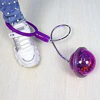 Скакалка на одну ногу светящаяся для детей Ice Hoop шар с блестками и конфетти