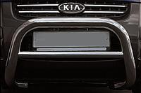 Кенгурятник d76 низкий черный KIA Sportage New (2008-2010)