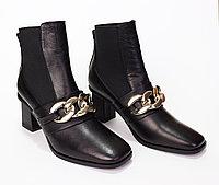 Женские ботинки осенние. Цвет черный.