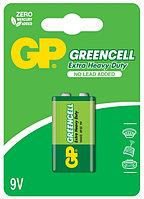 Батарейки 6F22 9V 1 шт GP Batteries Greencell