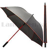 Зонт трость мужской полуавтомат Miracle 91 см черно-красный