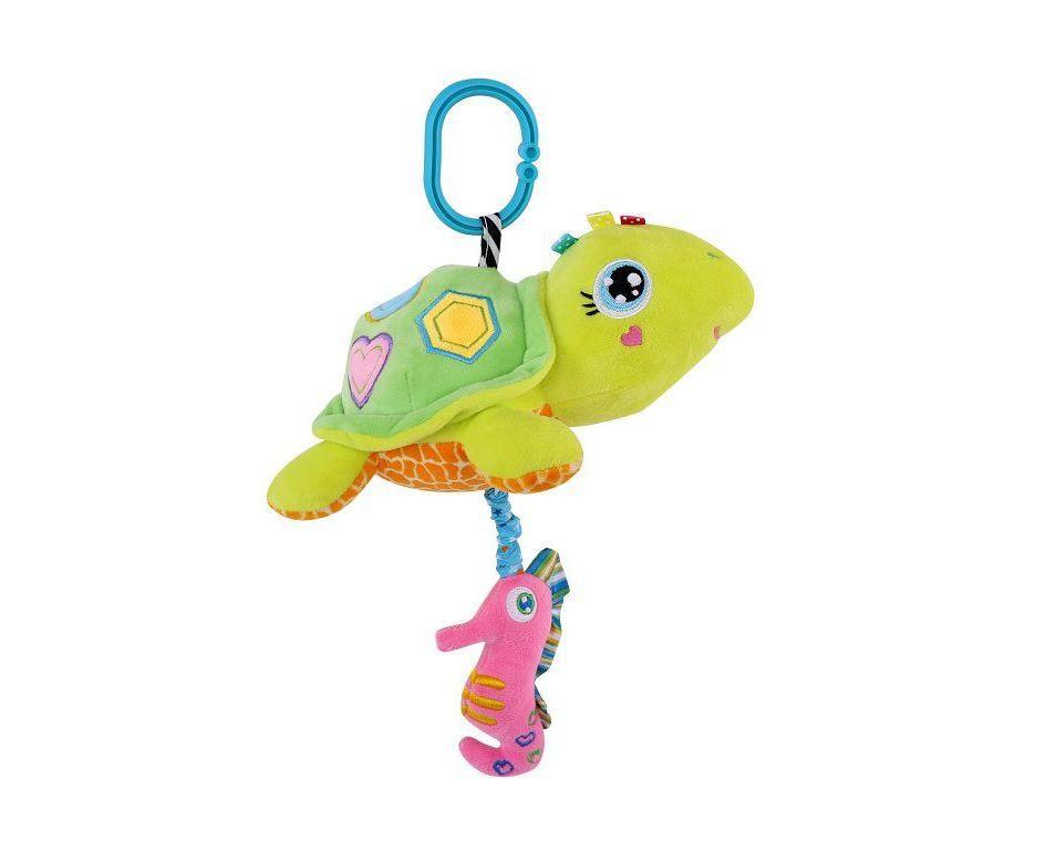 Подвесная музыкальная игрушка Lorelli Toys Черепашка, зеленый