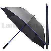 Зонт трость мужской полуавтомат Miracle 91 см черно-синий