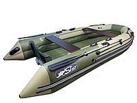 Лодка СКАТ 370 бежевый/зеленый