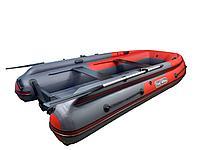 Лодка REEF-370 Fi нд ТРИТОН S MAX стеклопластиковый интерцептер графит/красный