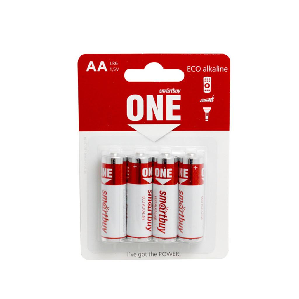 Батарейка алкалиновая Smartbuy ONE LR6/4B (24/240) Eco