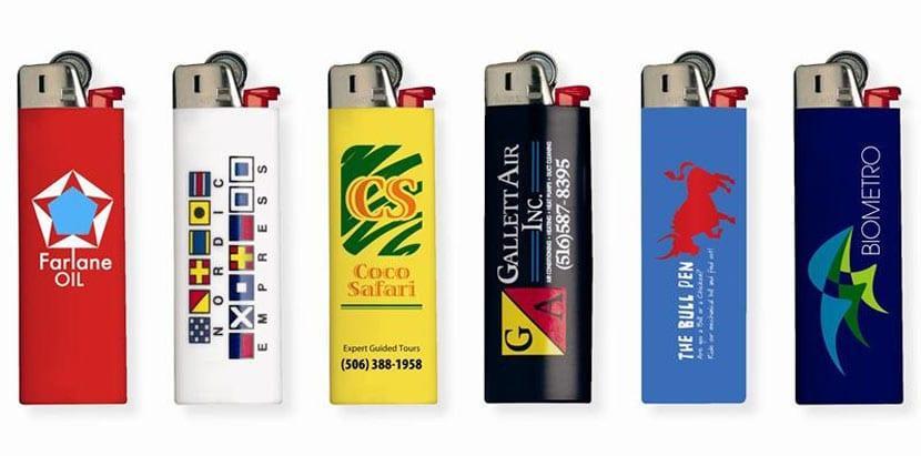Печать логотипа на зажигалках