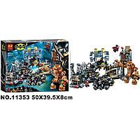Конструктор Вторжение Глиноликого в бэт-пещеру Lari 11353, аналог Лего Супергерои 76122