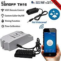Sonoff TH16 Умный WiFi выключатель с датчиком температуры и влажности AM2301