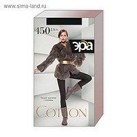 Колготки теплые женские ЭРА Cotton 150 цвет чёрный, р-р 5