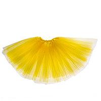 Карнавальная юбка 3-х слойная 4-6 лет, цвет желтый
