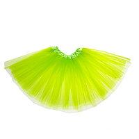 Карнавальная юбка, 3-х слойная, 4-6 лет, цвет салатовый