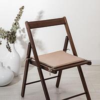 Сидушка на стул «Бамбук», пудра, 34х34х1,5 см